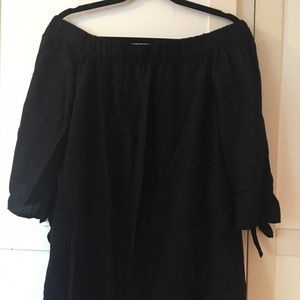 Old Navy Black Off Shoulder Dress